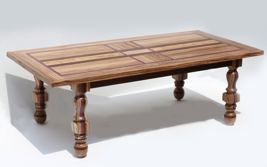 Zebrano Dining Table | BAGNATO